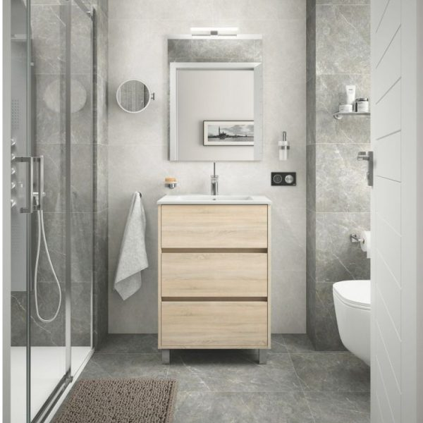 Arenys Bathroom Set with Mirror and LED Light