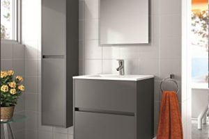 NOJA BATHROOM SET WITH LED LIGHT AND MIRROR - MATTE GREY