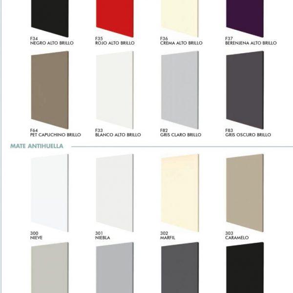 Range Of Polylaminate Colours