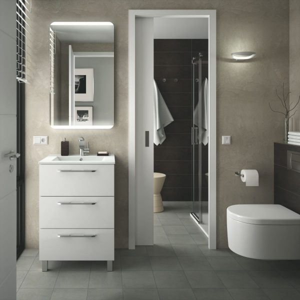 Fussion Chrome 3 Drawer Bathroom Set 60cm
