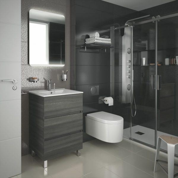Fussion Line 3 Drawer Bathroom Set 60cm