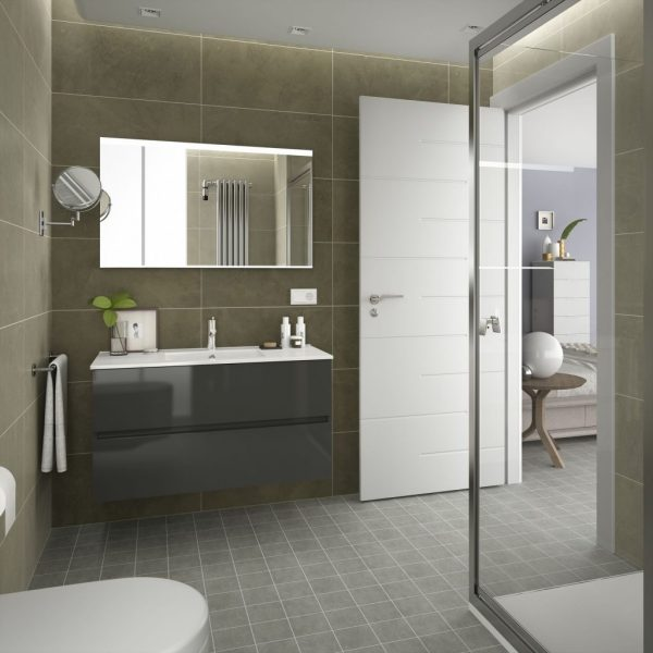 Fussion Line 2 Drawer Bathroom Set 100cm
