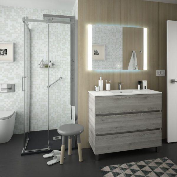 Fussion Line 3 Drawer Bathroom Set 100cm
