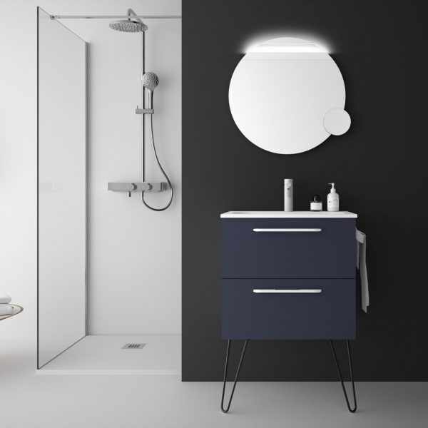 Fussion Chrome 2 Drawer Bathroom Set 60cm