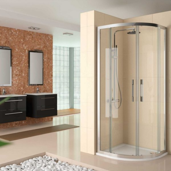 Clear Semicircular Shower Screen