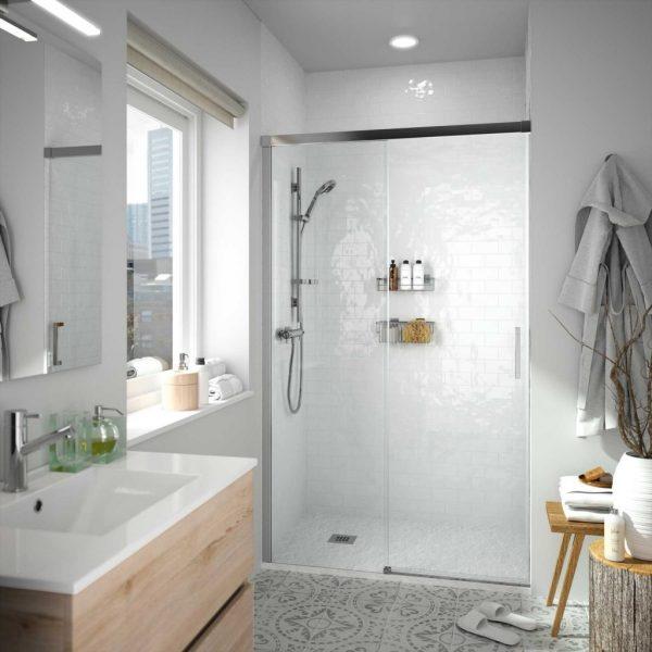 Copenhague Shower Screen with  Fixed and Sliding Door