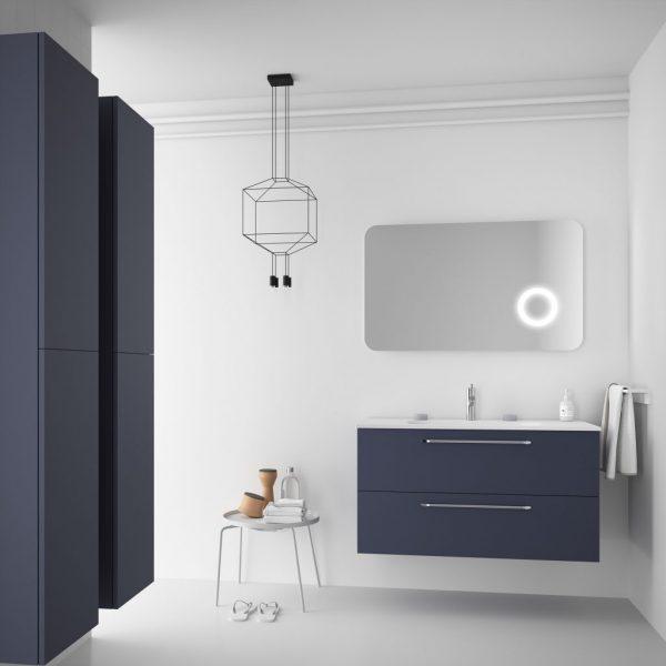 Fussion Chrome 2 Drawer Bathroom Set 100cm