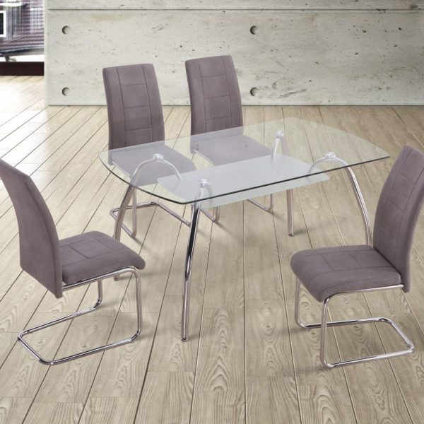 San Dining Room Table with 4 Chairs