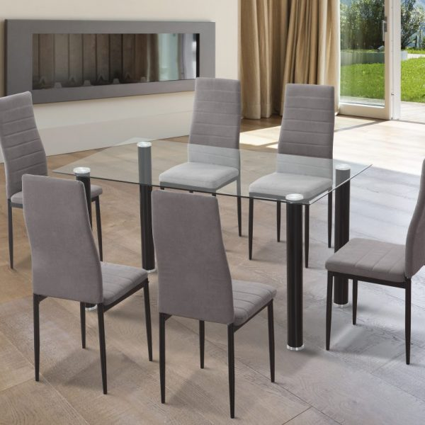 Yuri Dining Room Table with 6 Chairs
