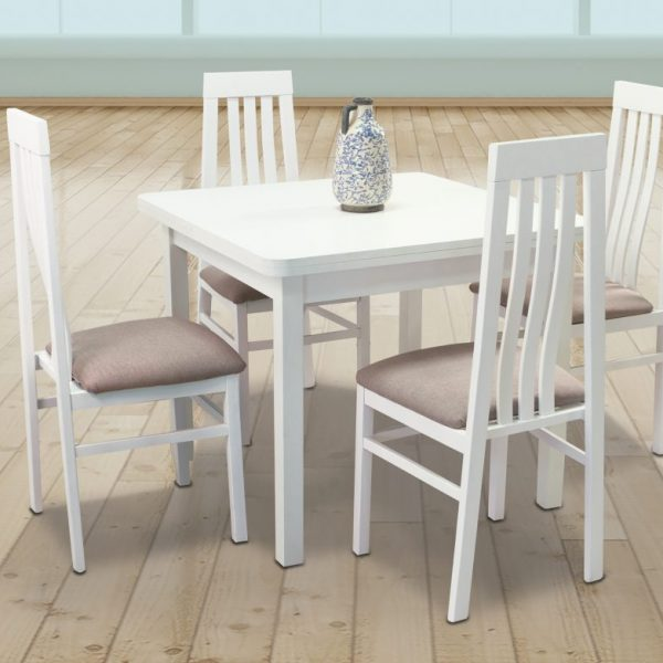 Zora Extending Dining Room Table with 4 Chairs