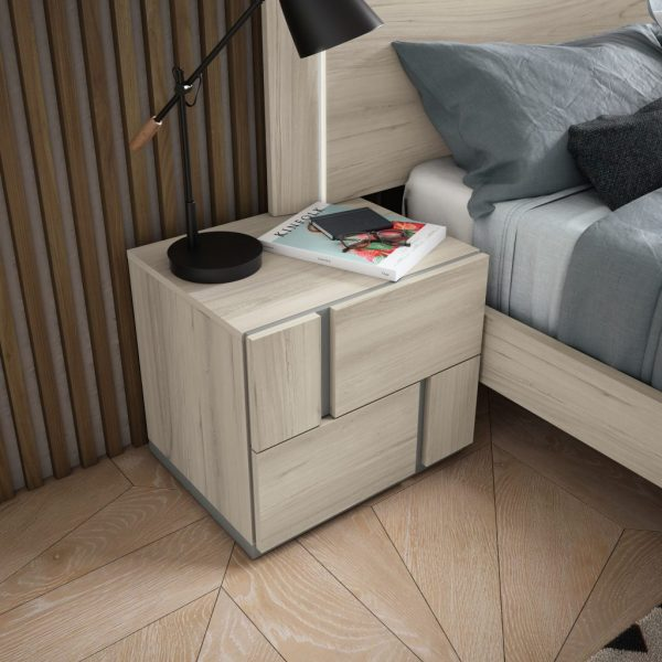 Duo Bedside Table- 2 & 3 Drawer